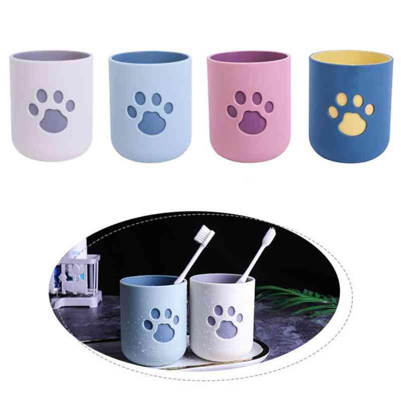 Simple Nordic Style Plastic Tooth Cup, Bathroom Organizer Mug Sets, Toothbrush Holder
