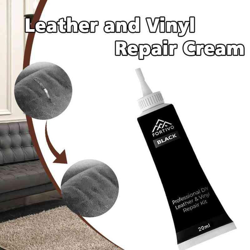 Advanced Diy Leather & Vinyl Repair Cream 20ml - Car Seats, Sofa, Jacket, Belt, Shoes Repair Tool