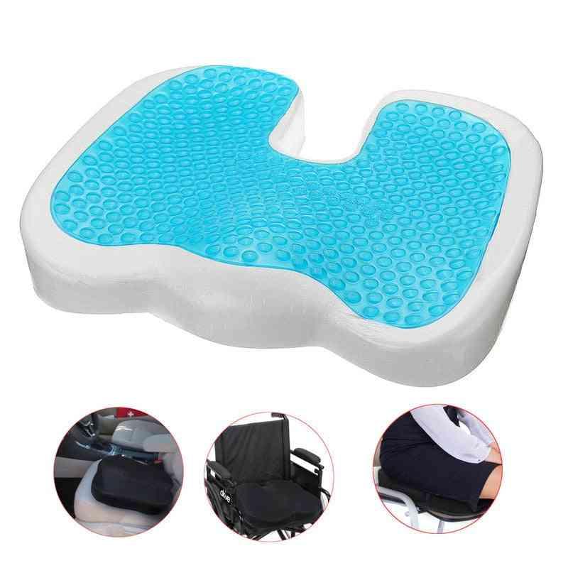 Gel Memory U Cooling Effect Foam Seat Cushion - Acne Orthopedic Coccygeal Sciatica Tailbone Relief Cushion