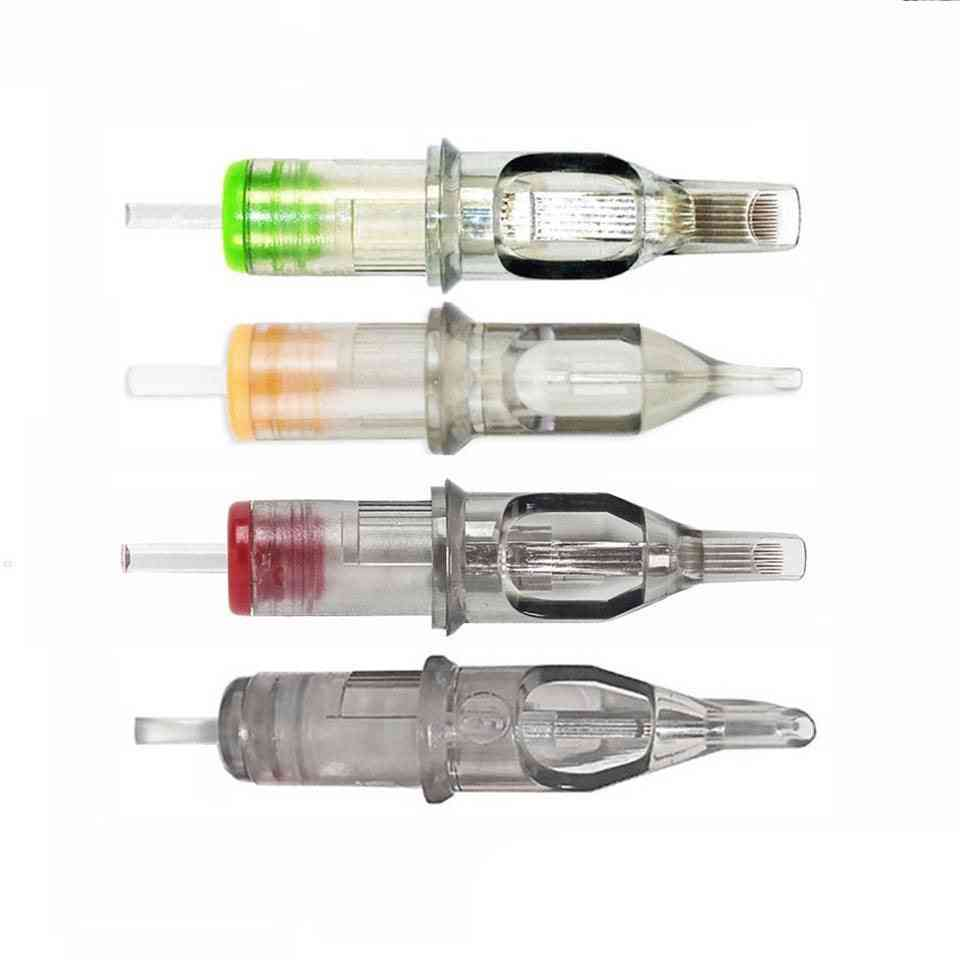 Stainless Steel Easy To Handle, Disposable ,sterilized Round Liner Tattoo Cartridge  - Needles For Permanent Lip, Eyebrow Makeup Tattoo
