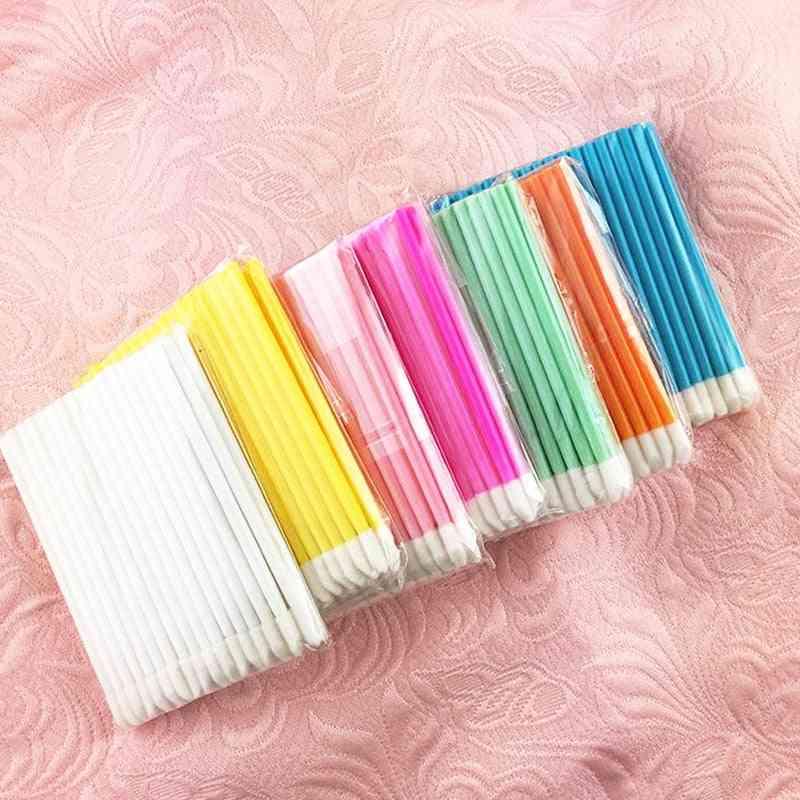 Disposable Cosmetic Makeup Brush - Lipstick/lip Gloss Wands Pen Cleaner Applicator