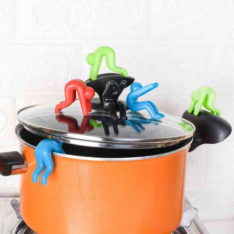 Spill-proof Lid Lifter For Soup Pot Kitchen Tools Stand - Silicone Heat Resistant Holder