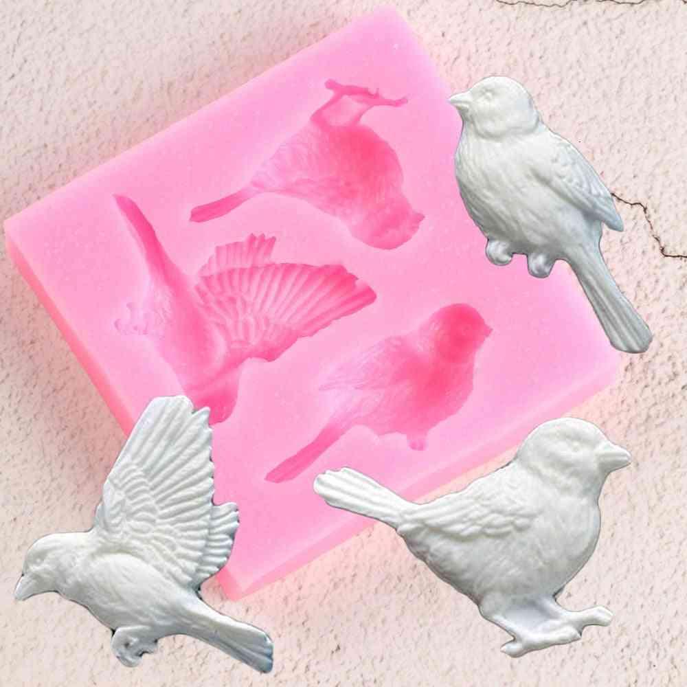 Sugarcraft Birds Fondant Silicone Mold - Cake Decorating Tools Candy Clay Chocolate Gumpaste Molds