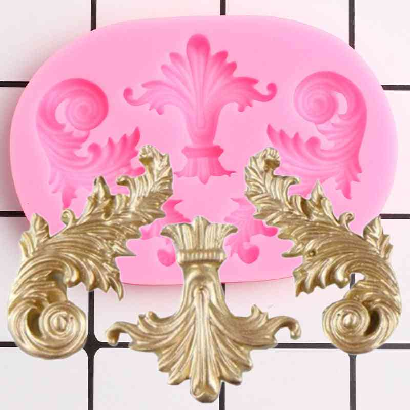 Scroll Relief Lace Silicone Border Fondant Mold - Cake Diy Wedding Cake Decorating Tools Candy Clay Chocolate Mould