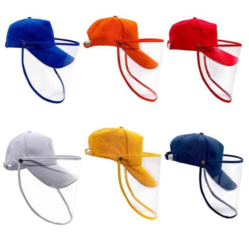 Hat With Face Shield  Cap Visor For Safe Wear