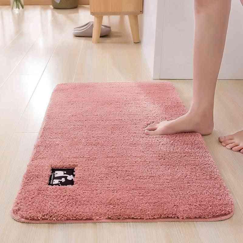 Super Absorbent Cotton Fiber Bath Mat - Bathroom Carpets And Rugs - Floor Mat Doormat