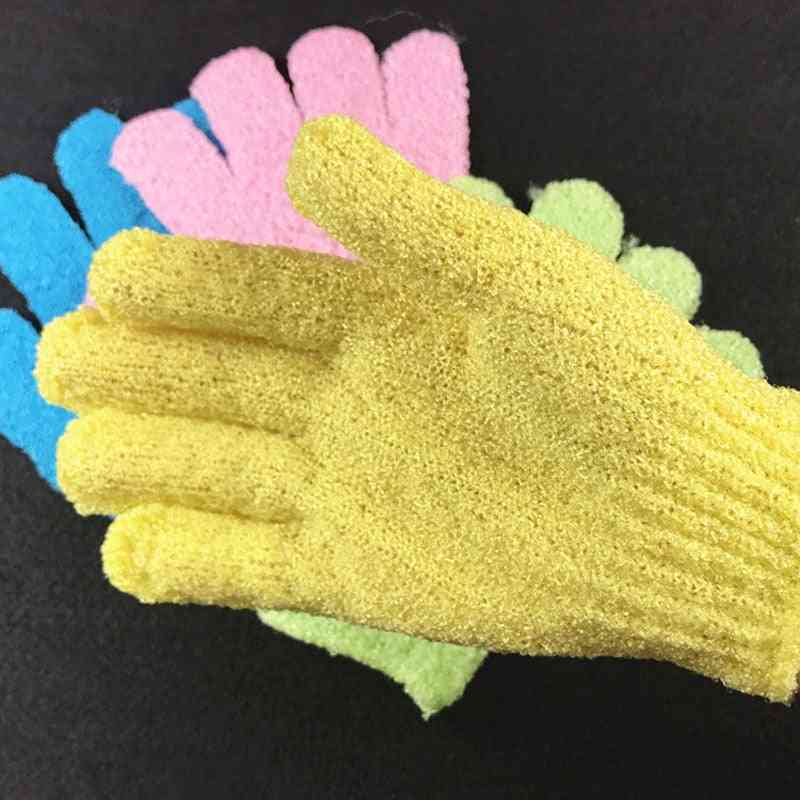 Five Fingers Bath Towel Gloves For Shower - Scrubber For Body Wash And Skin Spa