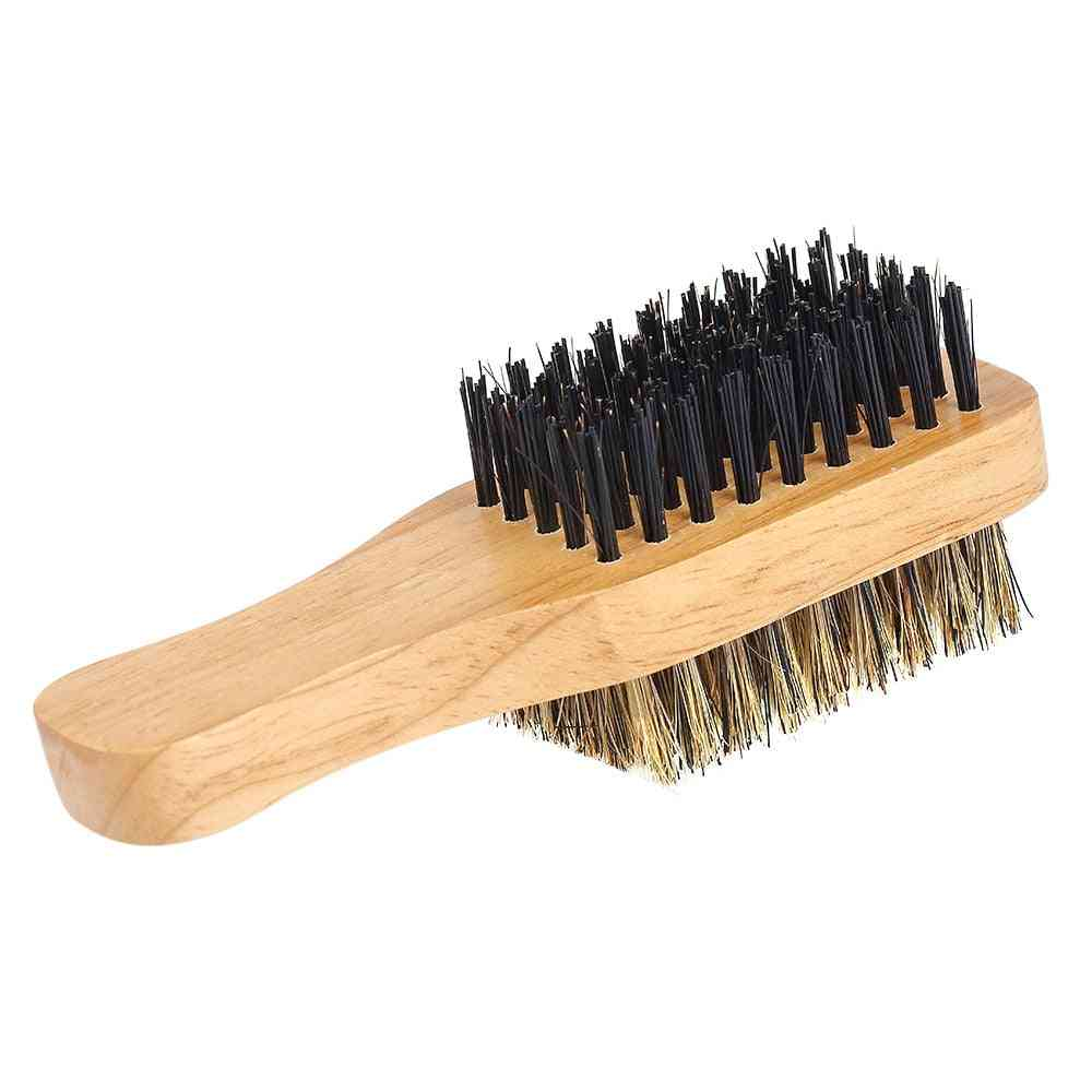 Men's Beard Brush With Double Sided - Facial Hair Brush Shaving Comb For Male Mustache