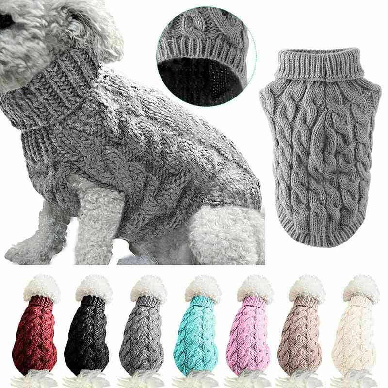 Winter Knitting Crochet Small Dog Christmas Sweater Decoration For Puppy Pet -clothes