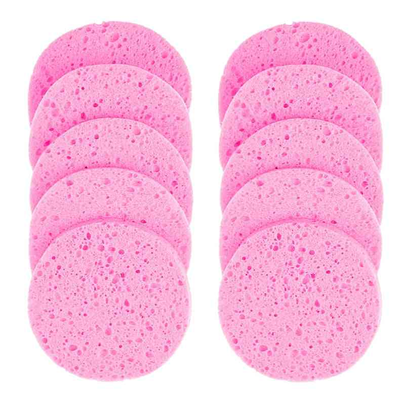 Makeup Remover Puff Pulp Sponge - Cellulose Compress Puff Facial Washing Sponge