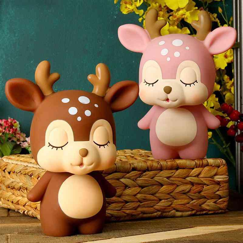 Cute Creative Deer Piggy Bank Cartoon Coin Piggy Bank - Adorable Coin Money Box