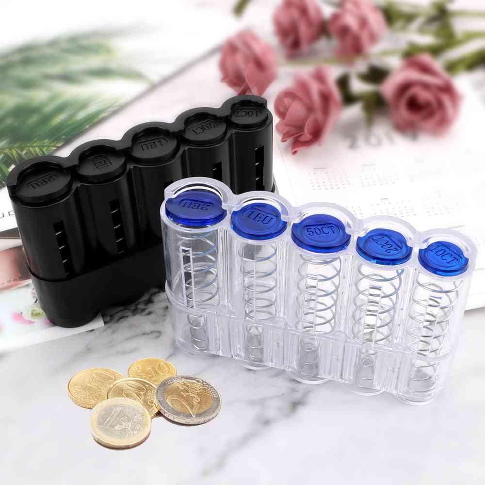 Creative Euro Coin Dispenser Storage Coin Holder Case