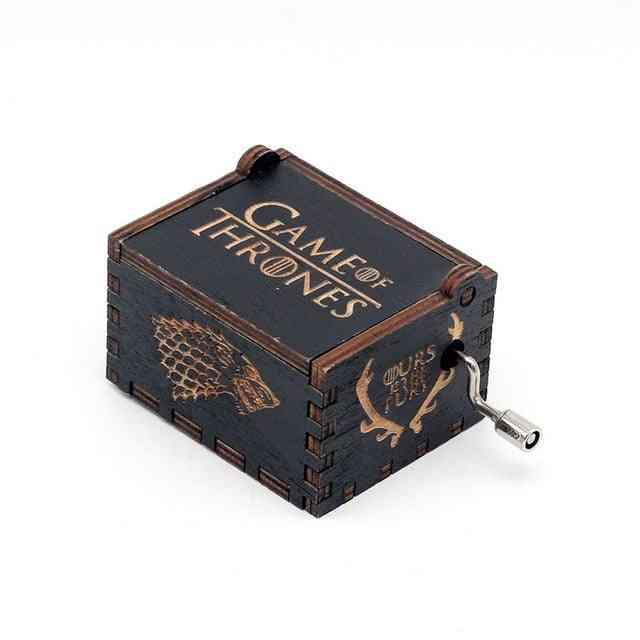 Game Of Thrones-hand Crank Wooden Music Box