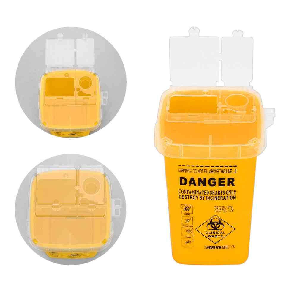Tattoo Supplies Container For Disposable Sharps Medical Needle Tips - Waste Box Tattoo Accessories Buckets Collections Barrels
