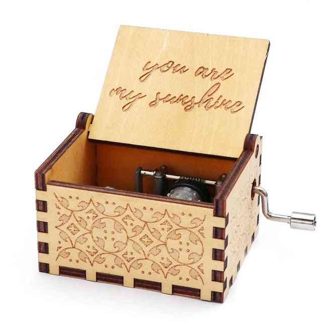 You Are My Sunshine Laser Engraved Vintage Cute Wood Music Box