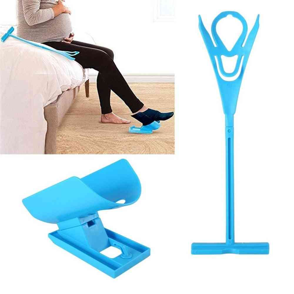 Aid Helper, Easy On Easy Off Sock Aid, Kit - Sock Helper, No Bending, Stretching For Pregnancy And Injuries