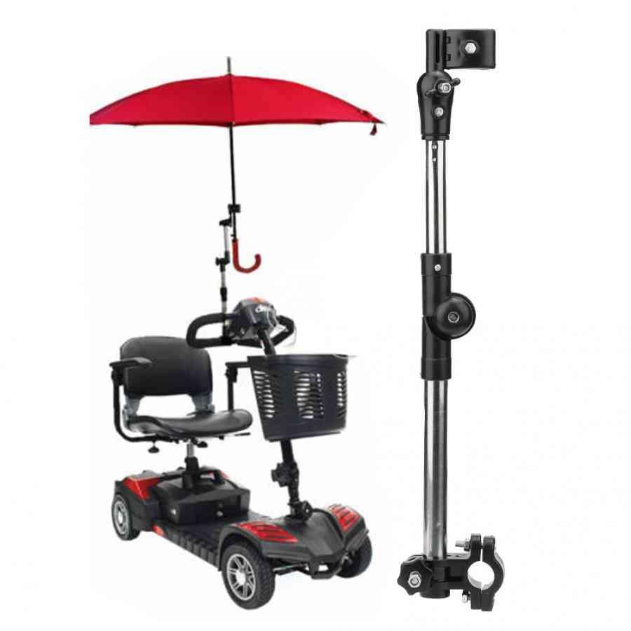 Wheelchair Stroller, Bicycle Umbrella Attachment Handle Bar Holder - Elderly Wheelchair Accessory