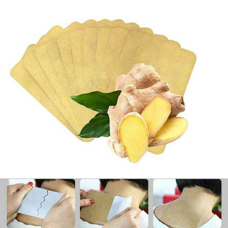 Ginger Detox Patch Body, Neck Pain Relief - Ginger Adhesive Pads