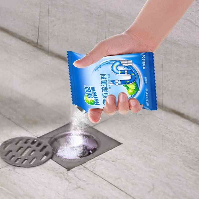 Powerful Sink Drain Cleaners - Kitchen, Toilet, Bathtub Sewer Cleaning Powder