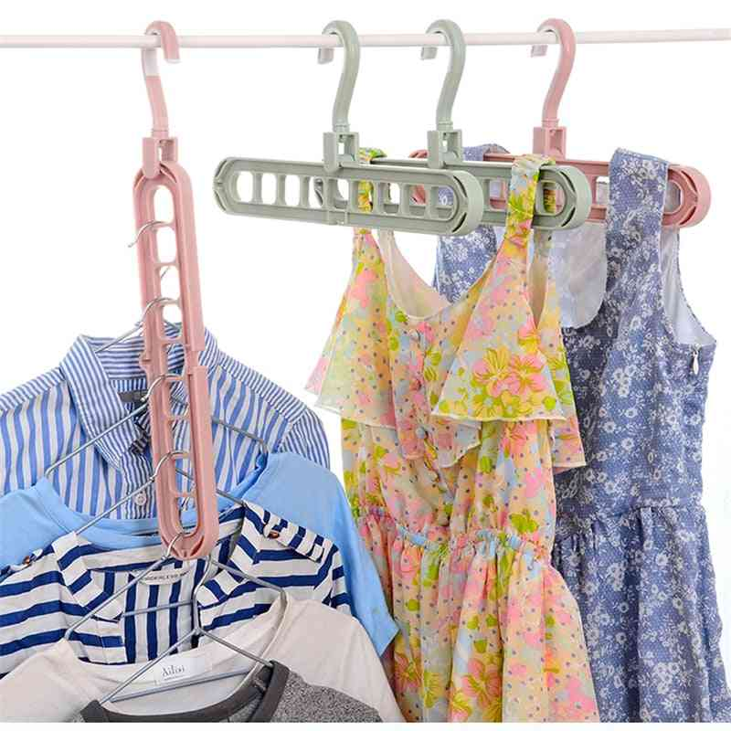 Multi Port Storage Hanger For Clothes With Circles - Clothes Drying Rack
