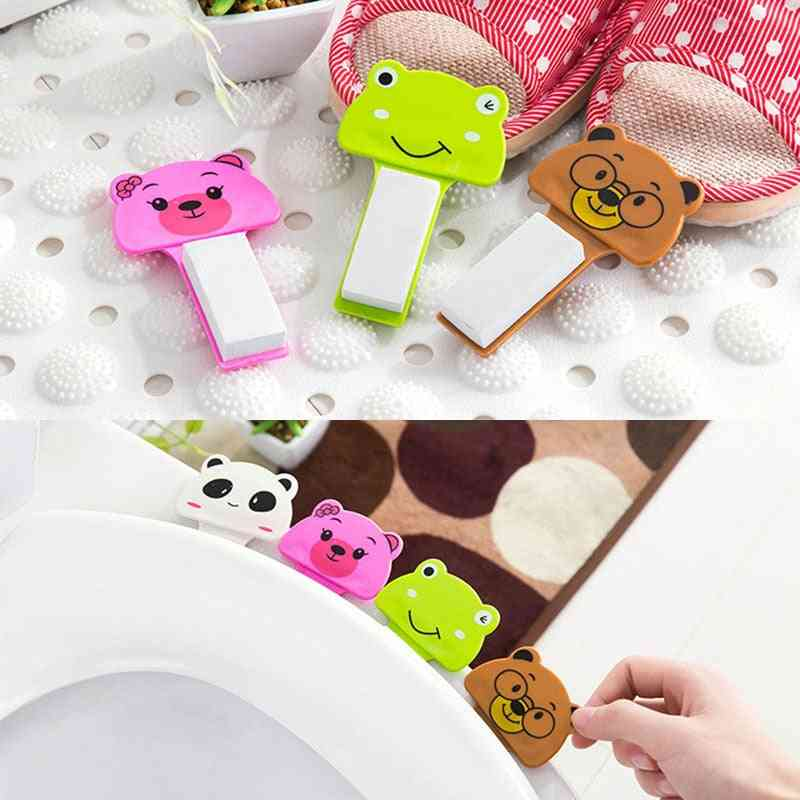 Portable Cartoon Toilet Lid, Flipper Handle - Anti Dirty Hand For Uncovering Flip-cover Handle Of Toilet Seats