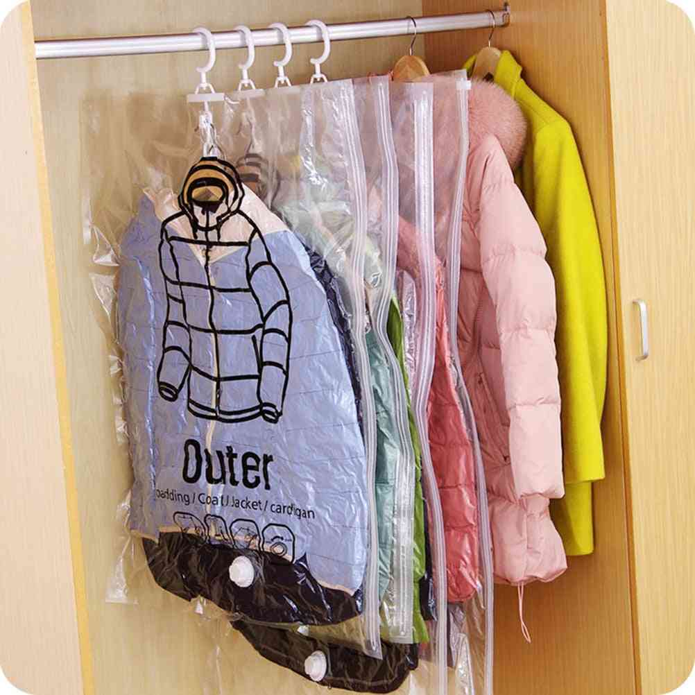 Dust Cover Organizer For Blanket, Clothes, And Quilt - Vacuum Storage Hanging Bag