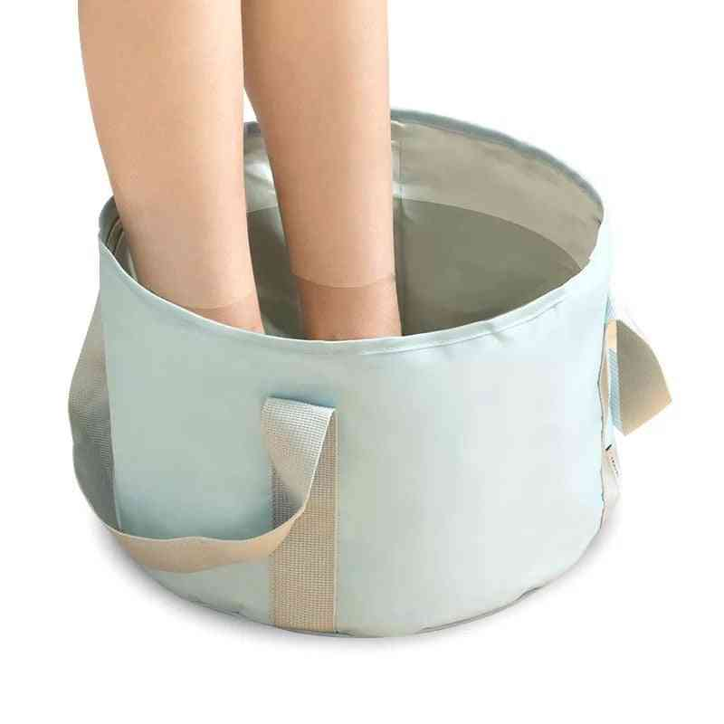 Portable Travel Foldable Outdoor Washbasin Spa Foot Bath Camping Plastic Bucket