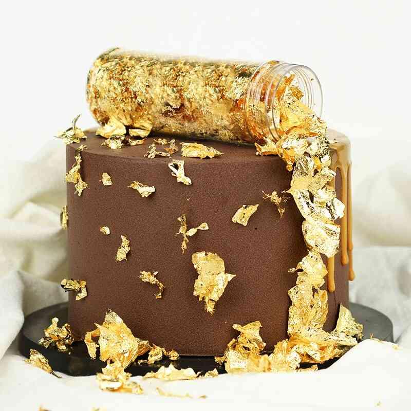 Edible Grade Genuine 24k Gold Leaf Schabin Flakes - Chef Art Dishes Decoration
