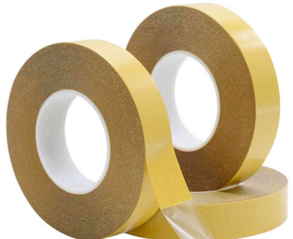 Double Side Tape - Pet Acrylic Adhesive No Trace Yellow Film For Clear Strong Transparent Packing Paper Craft