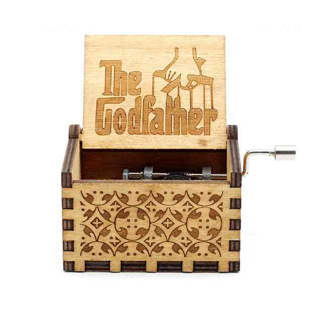 The Godfather Antique Carved Wooden Music Box