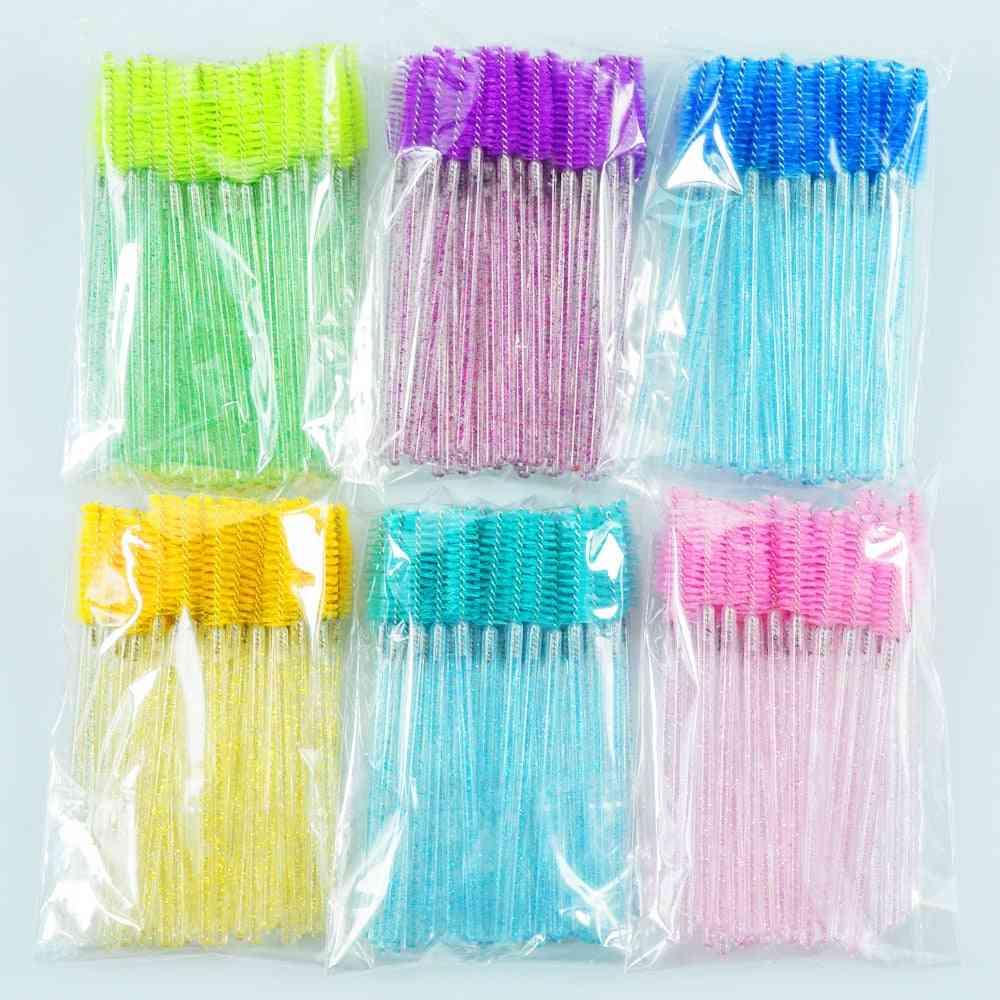 Eyelash Makeup Brushes - Disposable Mascara Wands Applicator Spoolers Eye Lashes Cosmetic Brush