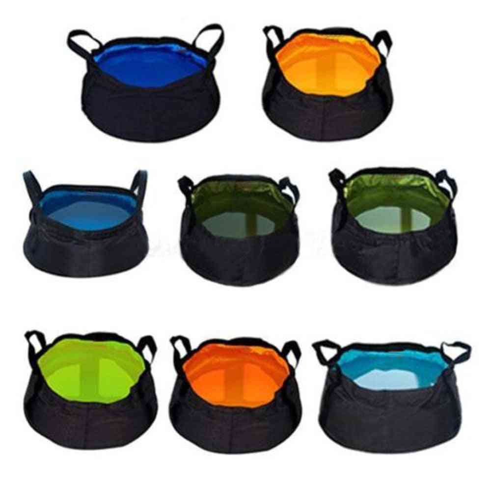 Portable, Convenient Folding Bags For Outdoor Camping -  Large Capacity Wash Basin