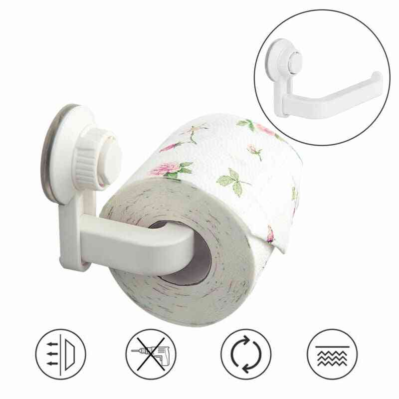 Wall Mount Kitchen & Toilet Roll Suction Cup Hook & Portable Paper Holders