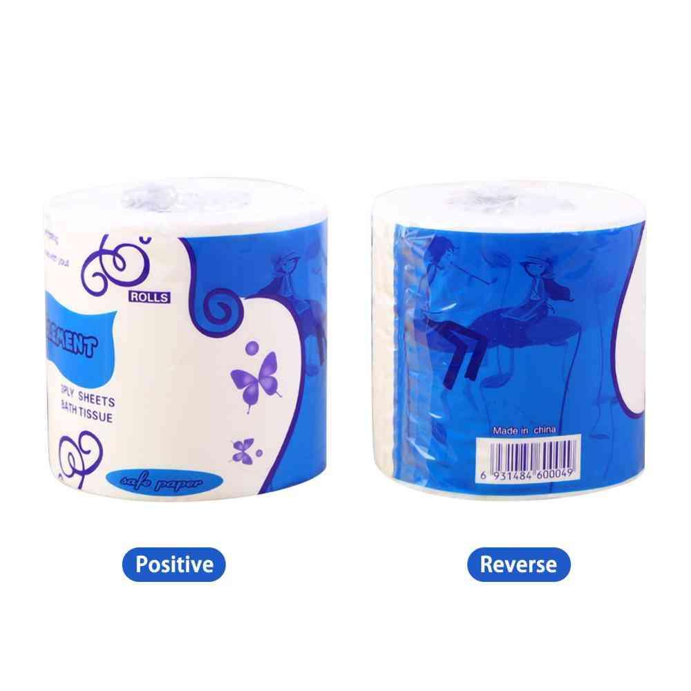 Soft Portable White Toilet Paper Roll In Bulk For Bathroom, Kitchen, Household