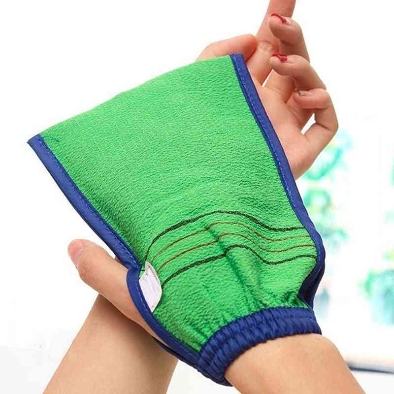 Two Sided Bath Glove For Shower And Spa - Body Cleaning And Exfoliating Scrubber