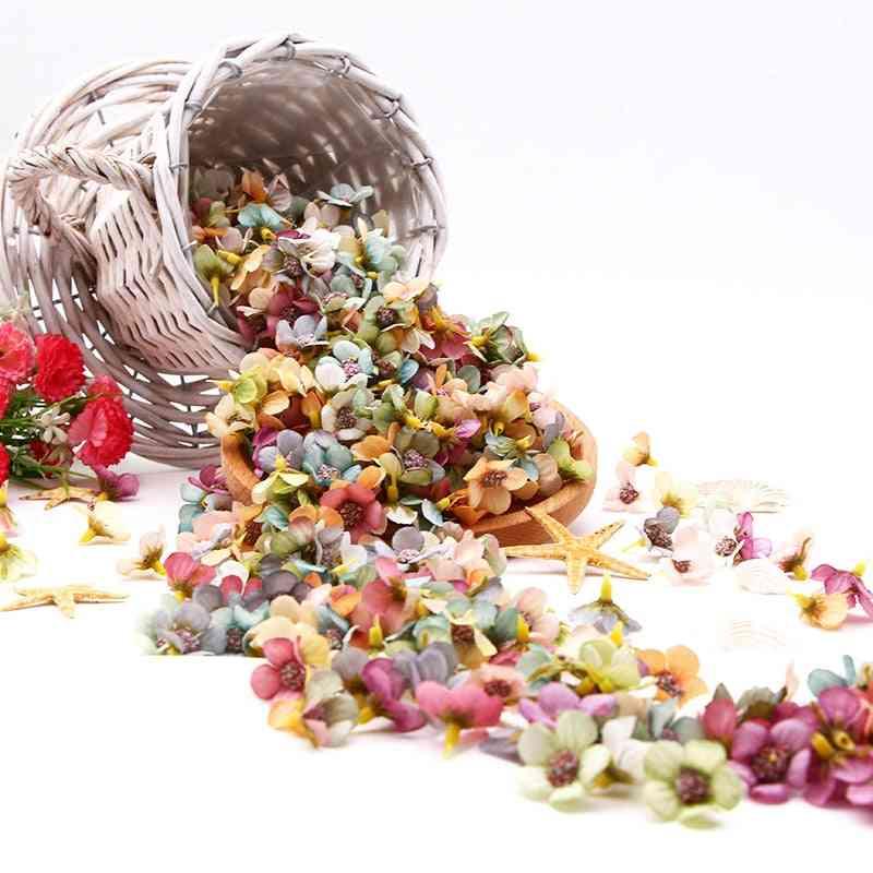 Multicolor Daisy Flower Head Mini Silk Artificial Flower For Wedding, Engagement, Party, Home Decor, Diy Garland Headdress