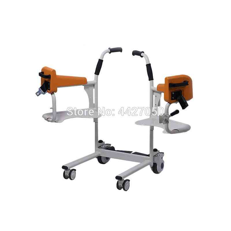 Elderly Commode And Bath Chair - Multifunction Lifting Mobile Machine, Manual Mobile Wheelchair