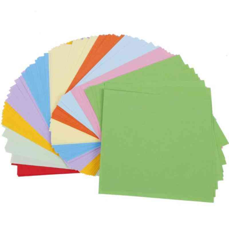 Double Sides Solid Color Square Origami Paper - Multicolor Diy Scrapbooking Craft Paper