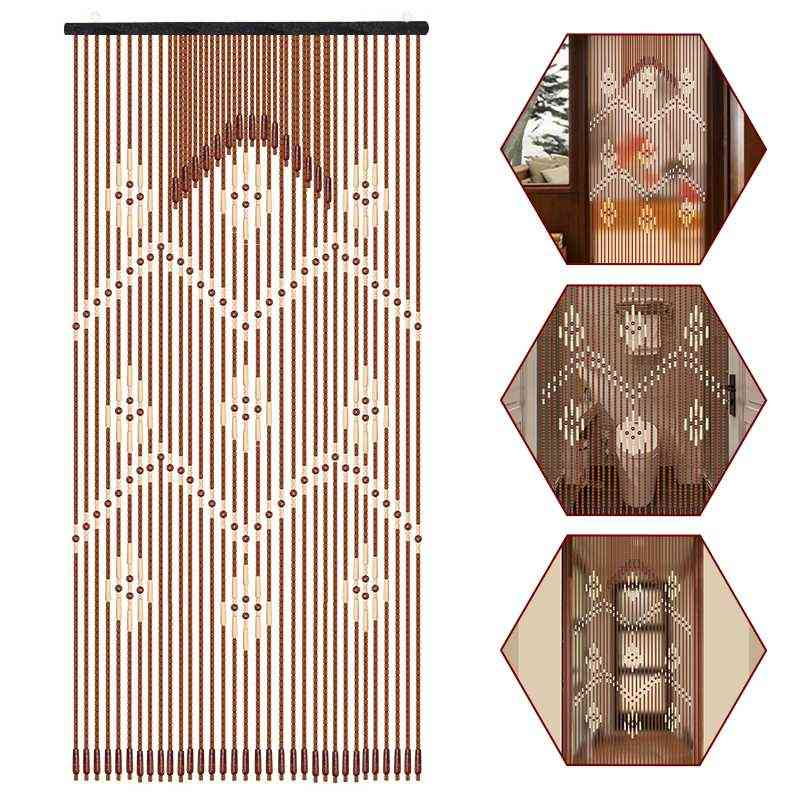 Wooden Bead Hanging Door Curtain - Household, Bathroom, Porch Partition