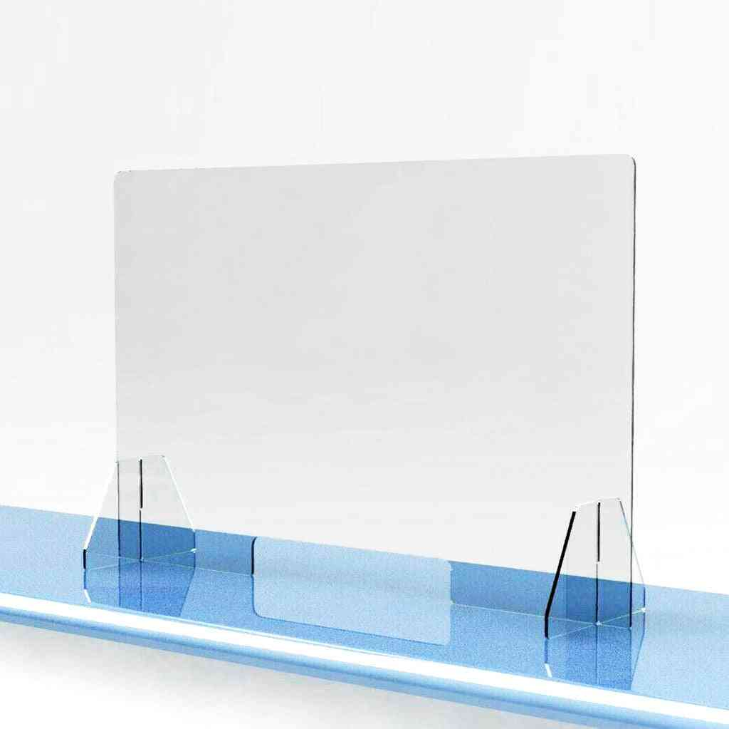 Acrylic Sneeze Guard Shield - Protection Safe Counter Top For Restaurant, Grocery Stores