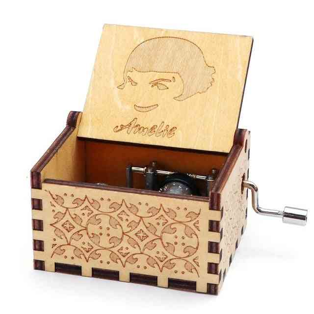 Amelie Theme Hand Cranked Collectible Wooden Music Box
