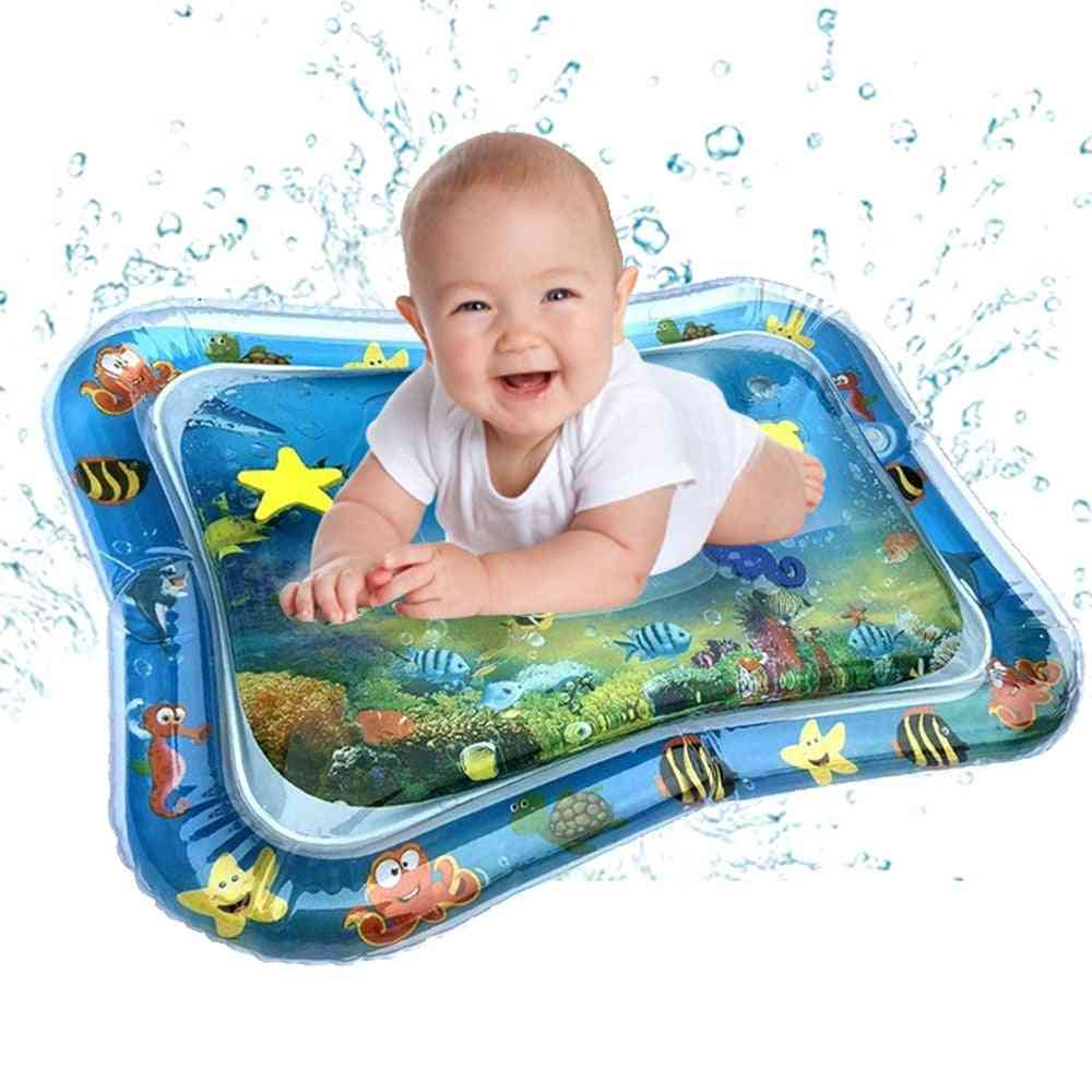 Inflatable Baby Water Play Mat - Tummy Time For Newborns