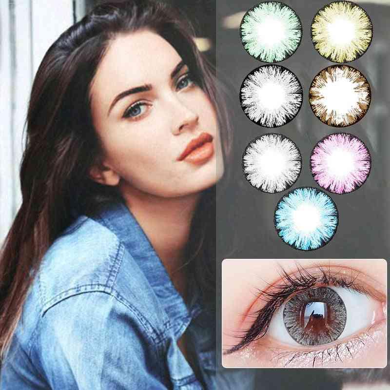 Cute Multicolor Party Cartoon Girl Decoration - Beautiful Pupil Color Contact Lenses
