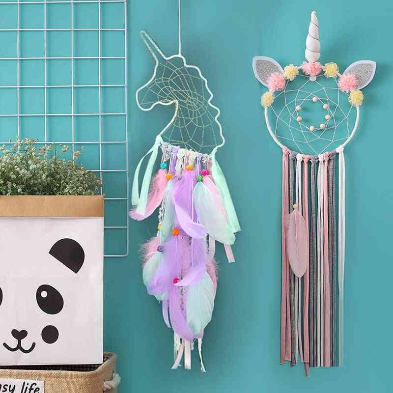 Unicorn Dream Catcher Room Decoration - Nursery, Bedroom, Room Decor