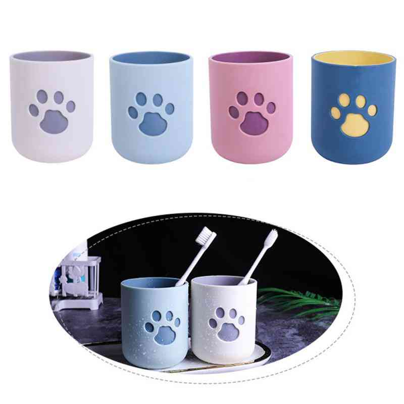 Cat Claw Pattern Toothbrush Cup