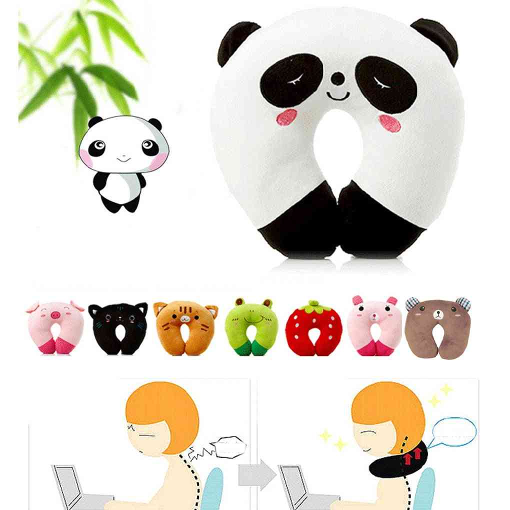 Cute Soft U Shaped, Plush Sleep, Neck Protection Pillow - Office Cushion, Lovely Travel Pillows For/adult