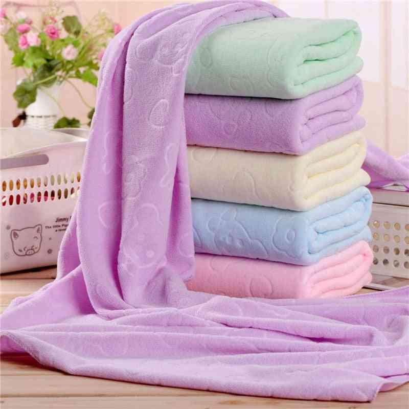 Microfiber Absorbent Soft Bath, Shower Towel - Quick Drying Washcloth Bath Towel