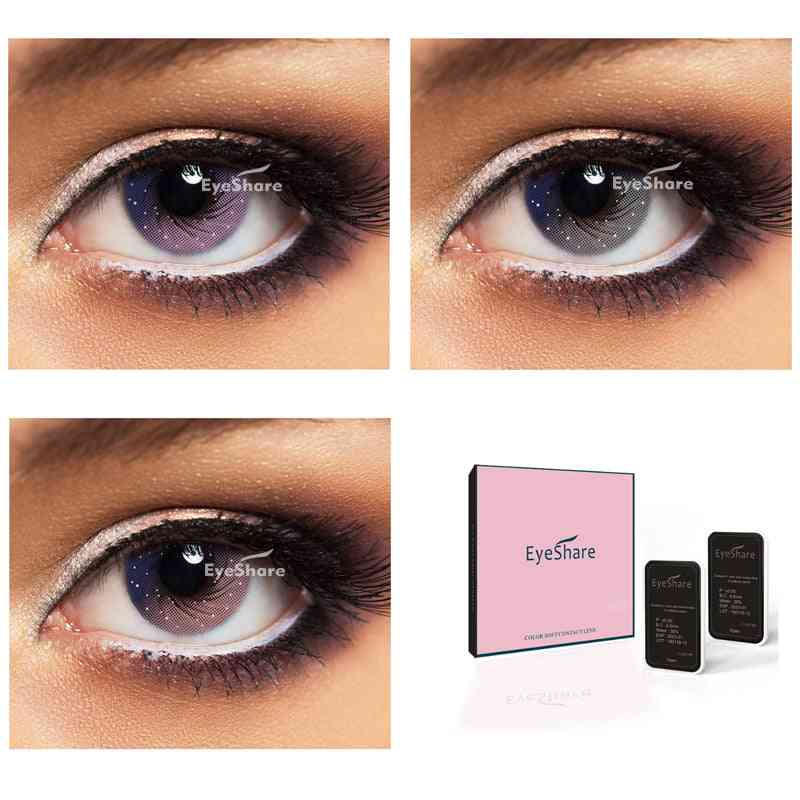 Galaxy Starry Sky Inspired Contact Lenses