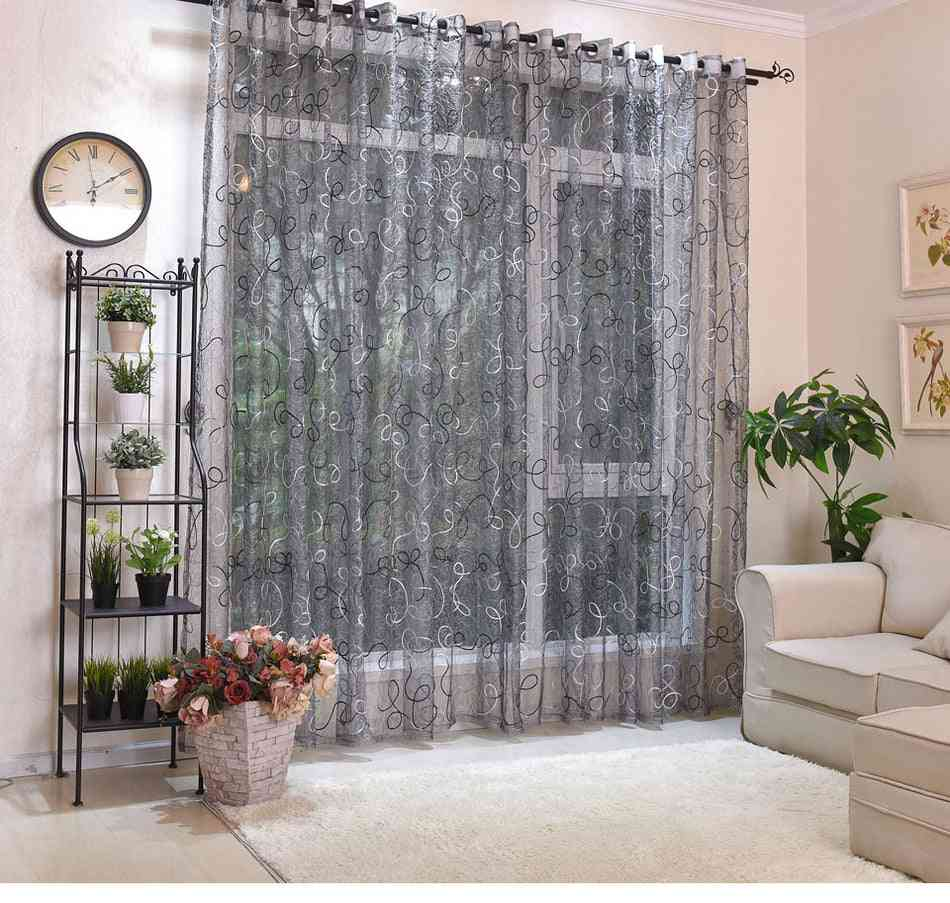 Home Decor Sheer Panel Tulle Curtain For Living Room, Bedroom Door, Window Voile Drapes