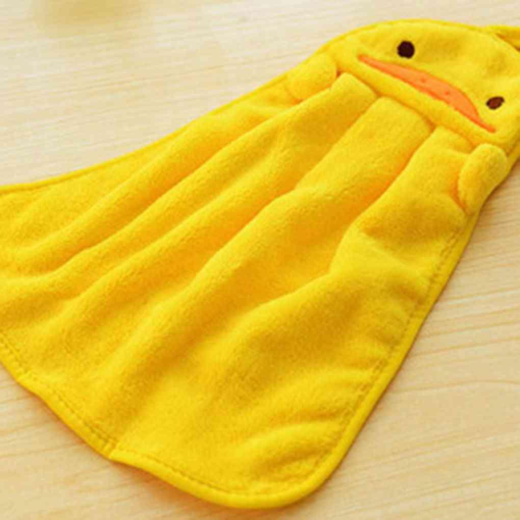 Cute Eco-friendly Candy Colors Soft Coral Velvet Cartoon Animal Handkerchief Towel